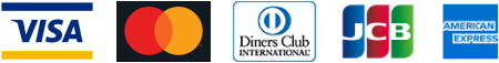 VISA.Master.Diners.JCB.American Expressロゴ画像
